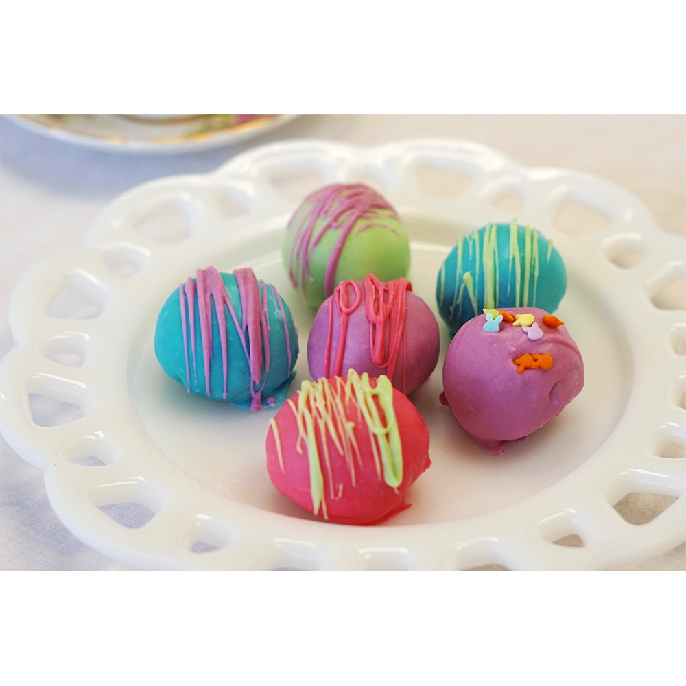 Farm Sanctuary Spring Vegan Cake Truffles by Marge's Bakery