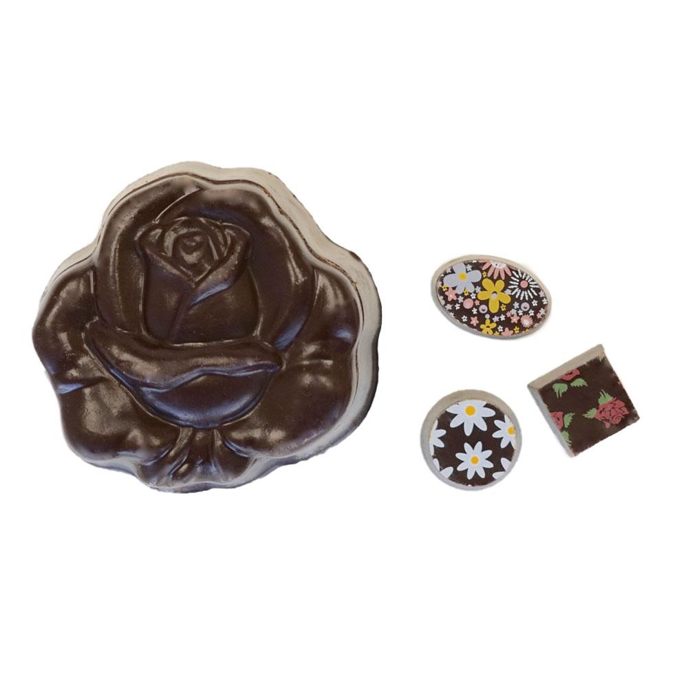 Farm Sanctuary Vegan Chocolate Rose Box by Chocolate Legends