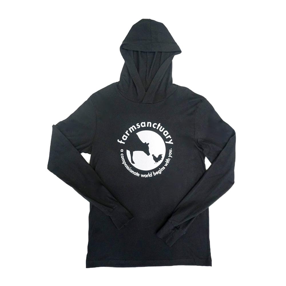 Farm Sanctuary Black Logo Unisex Hoodie