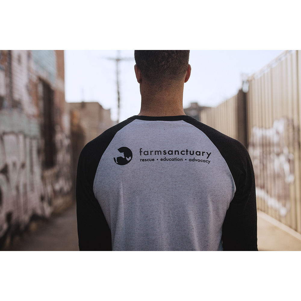Farm Sanctuary Logo Baseball Unisex Tee