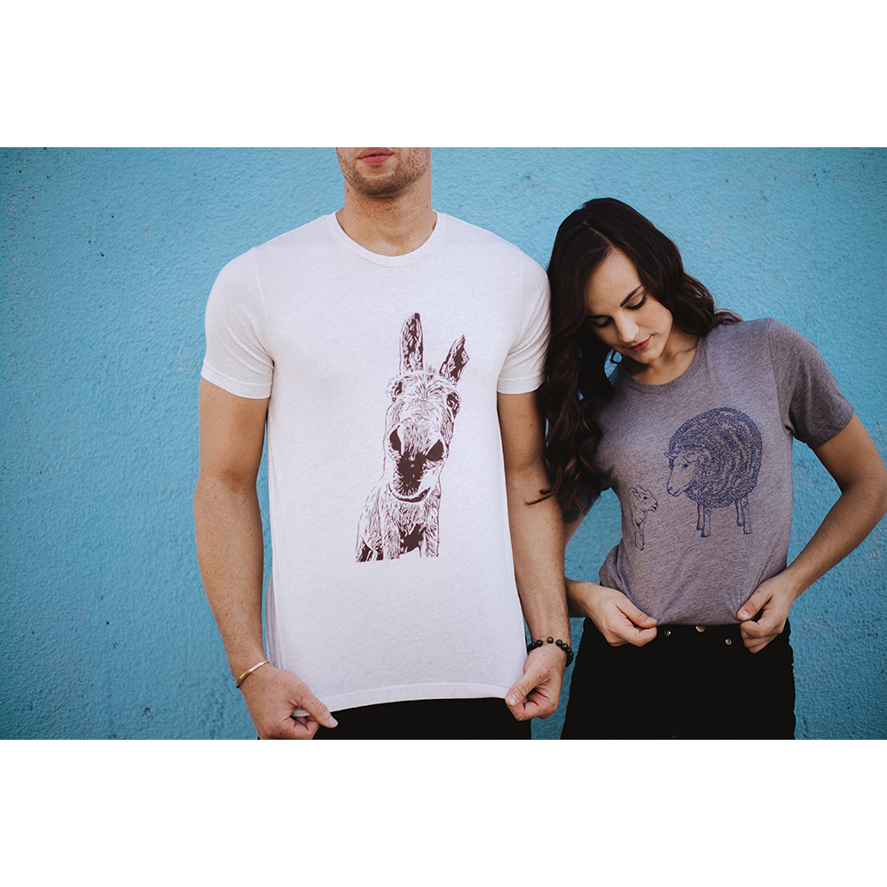 Farm Sanctuary Quartz Donkey Unisex Tee