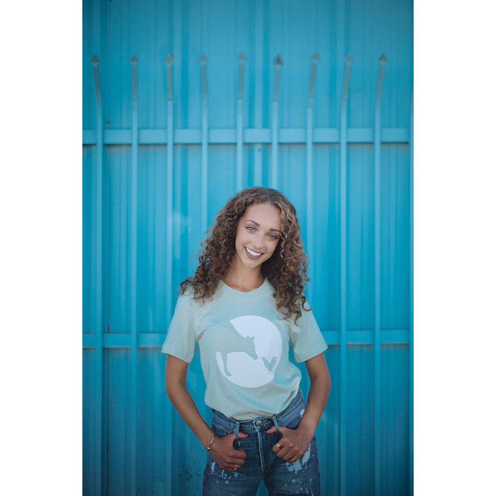 Farm Sanctuary Mint Logo Unisex Tee