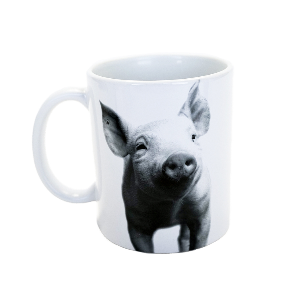 Farm Sanctuary Animal Mug Set - Pig Mug