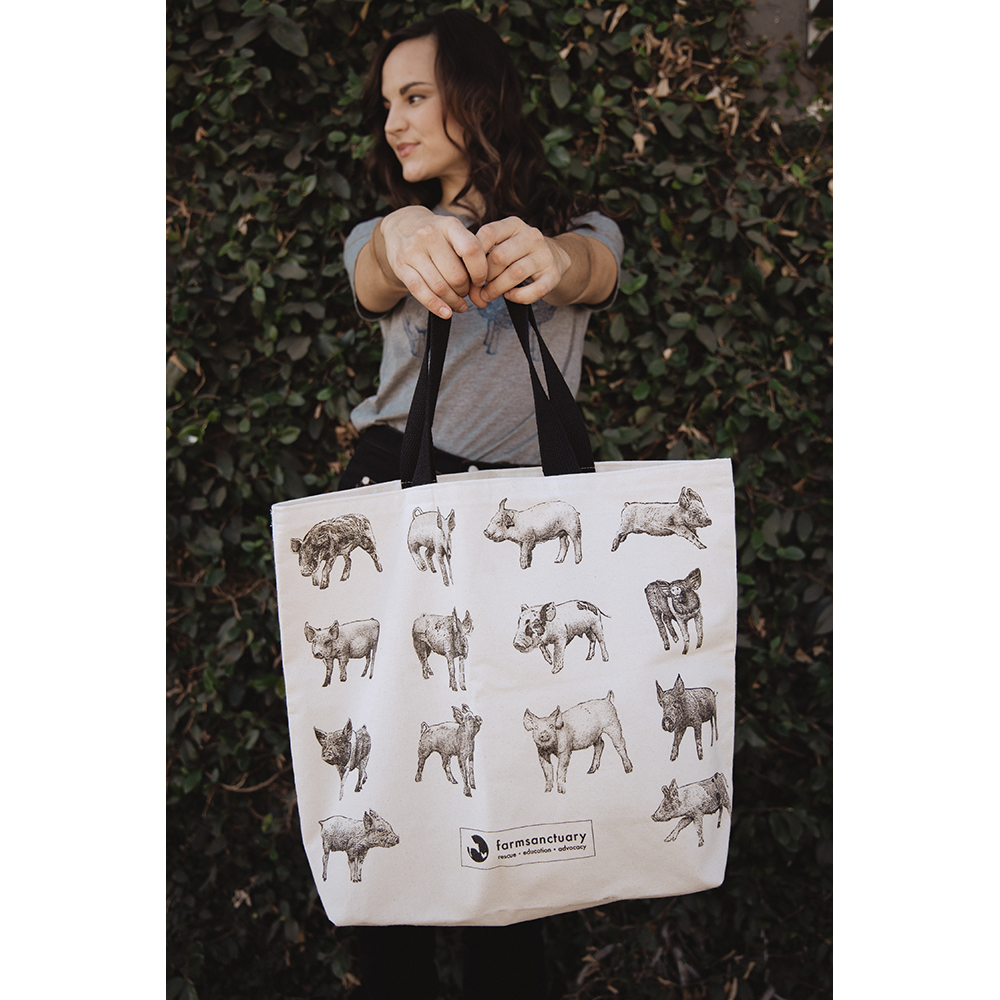 Farm Sanctuary's Tote of Pigs