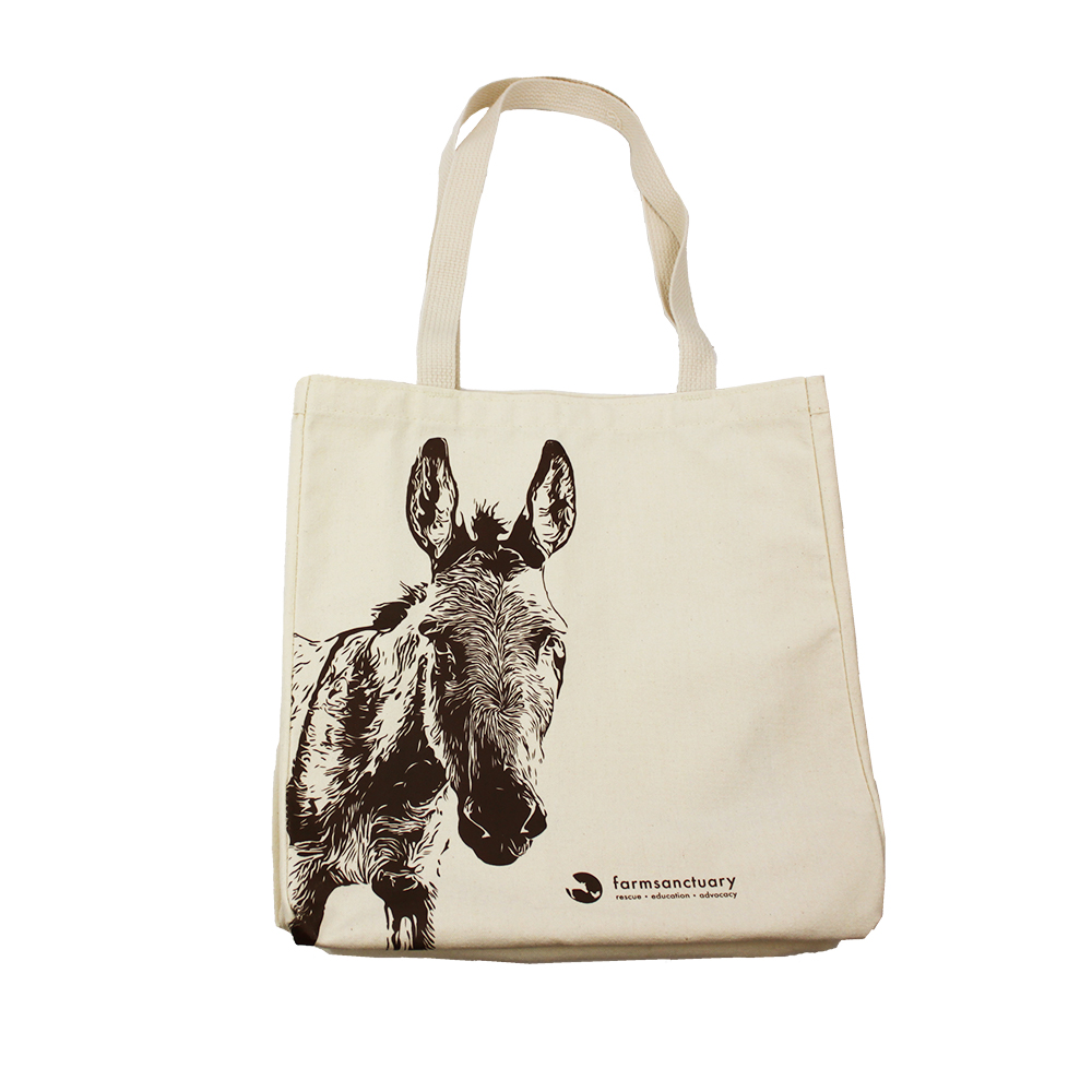 Farm Sanctuarys Patsy Donkey Tote Bag