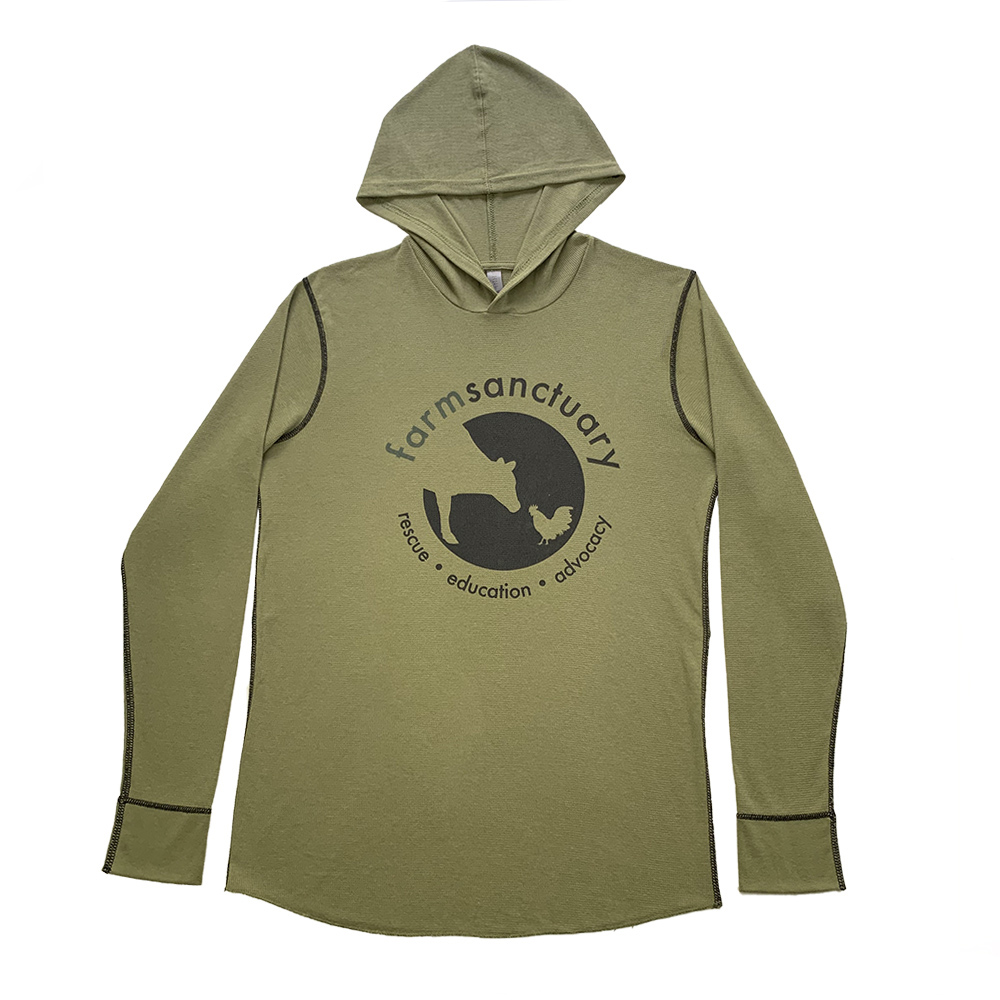 Farm Sanctuary Logo Thermal Hoodie