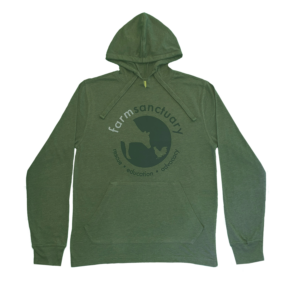 Farm Sanctuary Logo Eco Jersey Unisex Hoodie