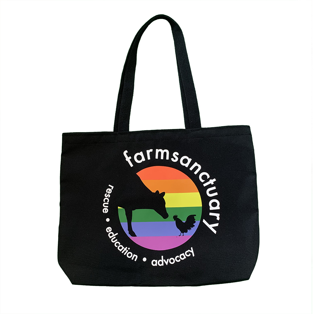 Farm Sanctuary Rainbow Logo Tote Bag