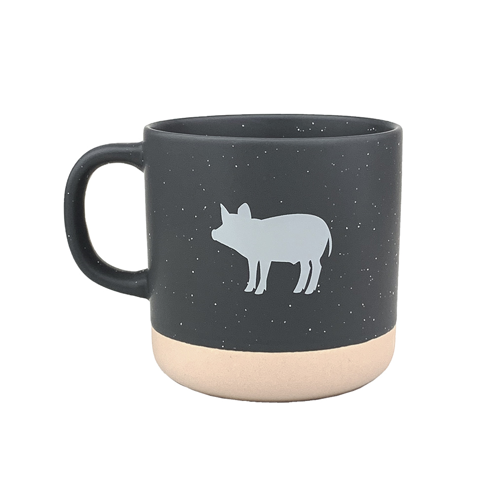 Farm Sanctuary Grey Piglet Mug - Front