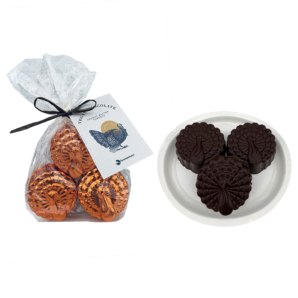 Farm Sanctuary Vegan Chocolate Peanut Butter Turkeys by Ethereal Confections