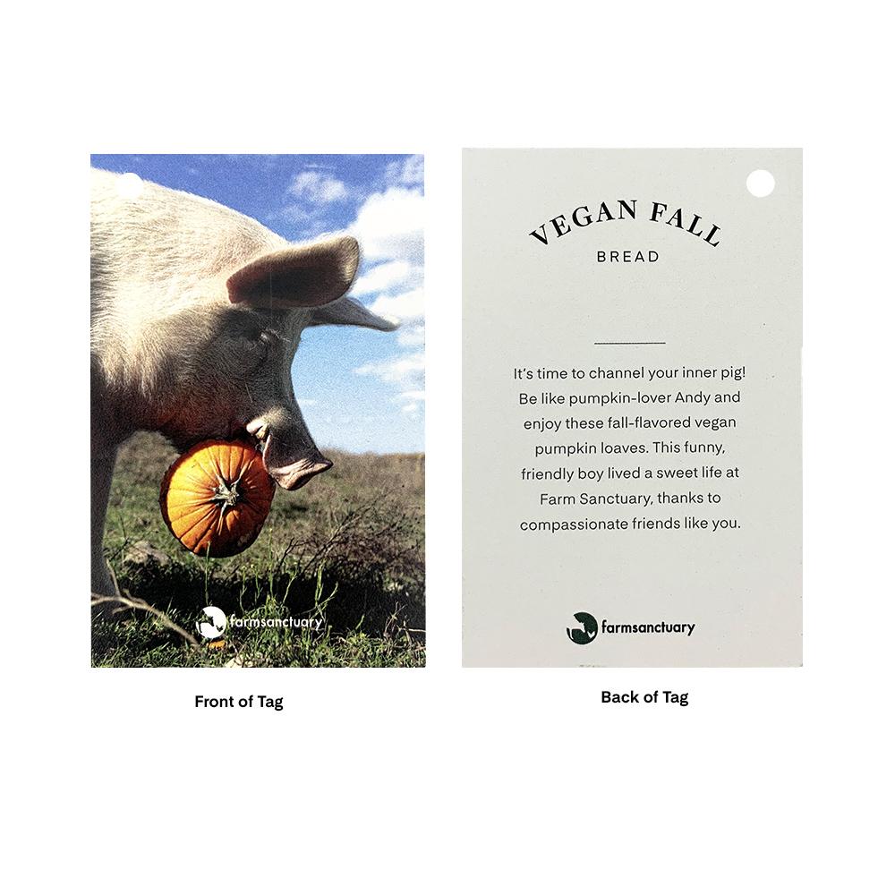 Farm Sanctuary Vegan Fall Bread - Vegan Pumpkin Bread Marge's Bakery