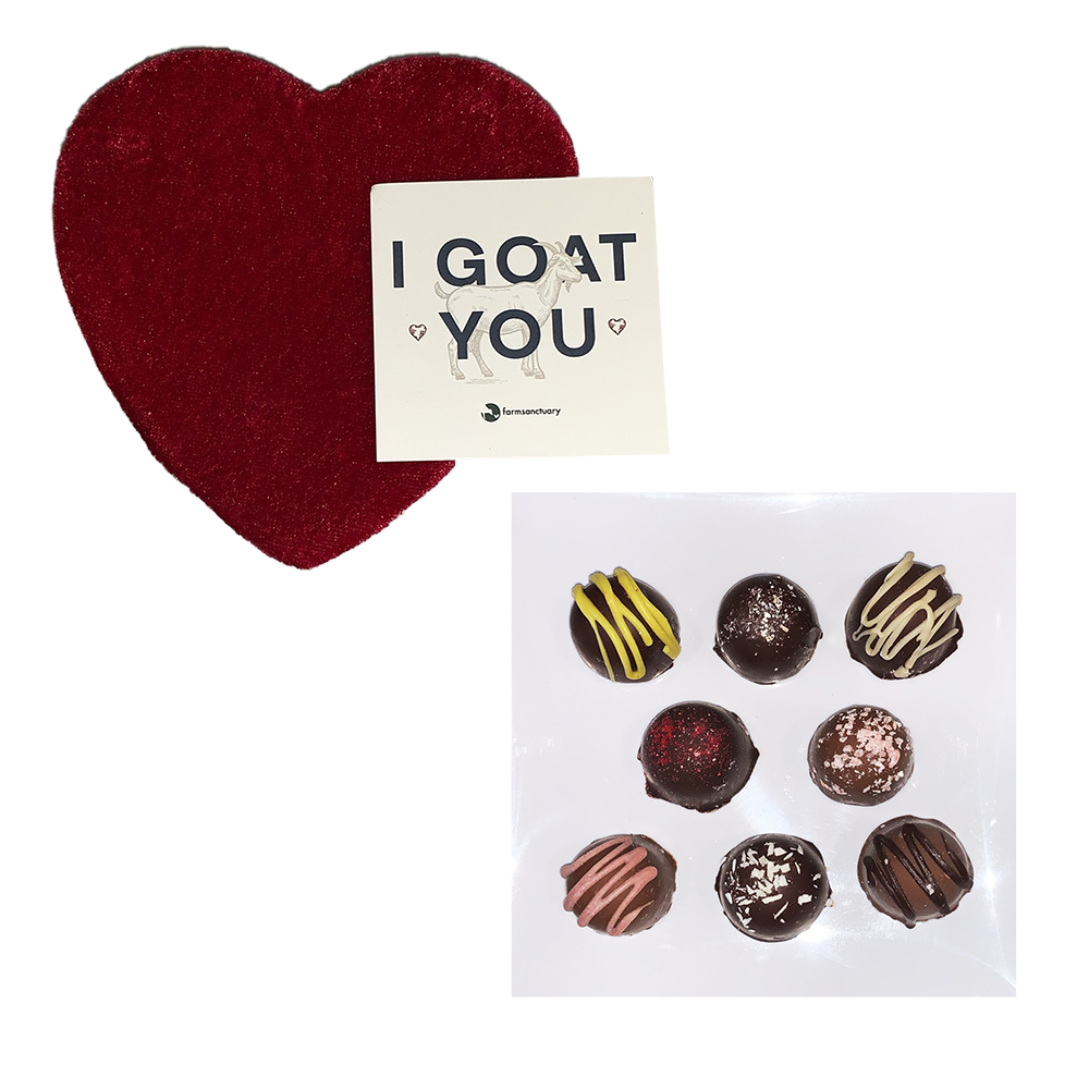 Farm Sanctuary Vegan Valentine's I Goat You Vegan Truffles