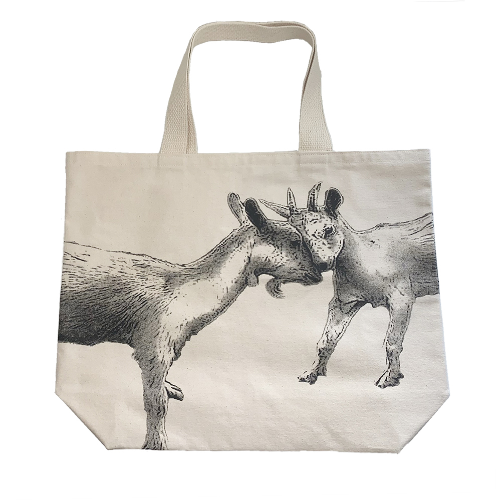 Farm Sanctuary Kissing Goat Tote Bag