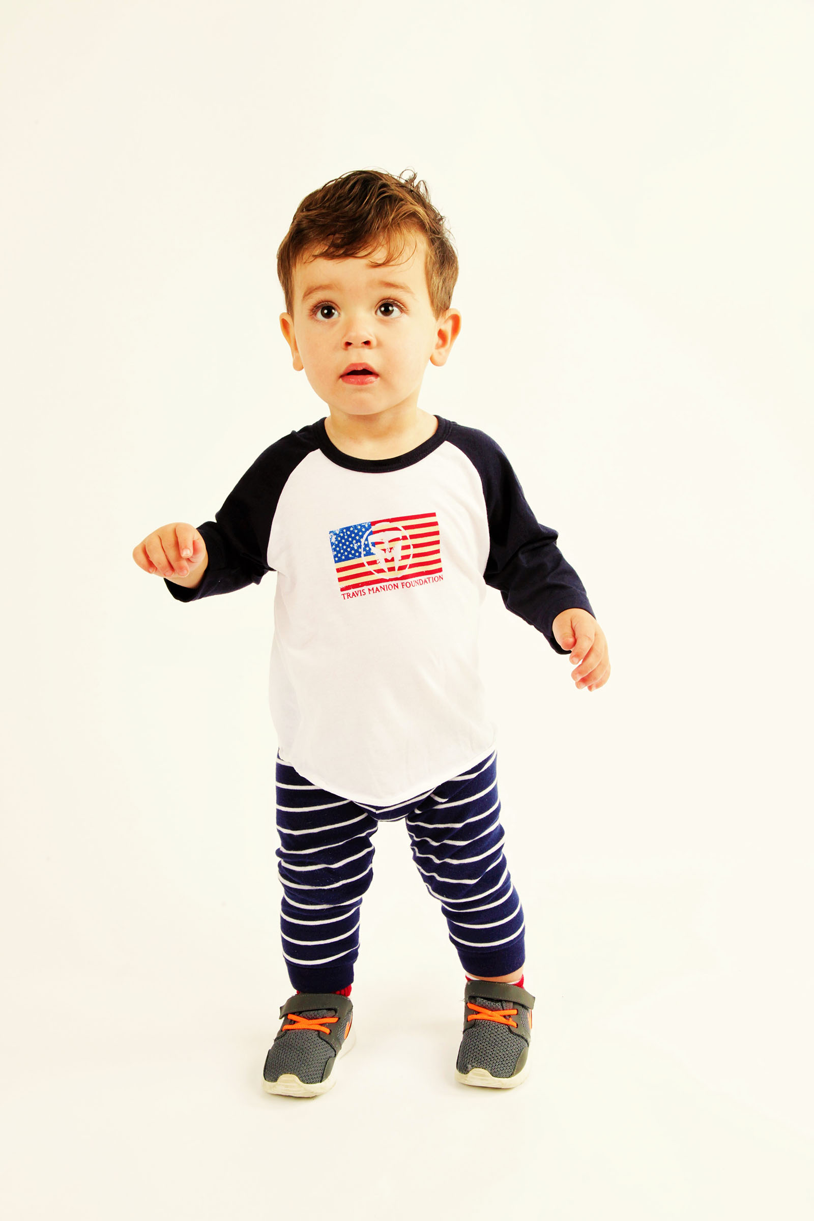 Infant TMF Long Sleeve Flag Tee