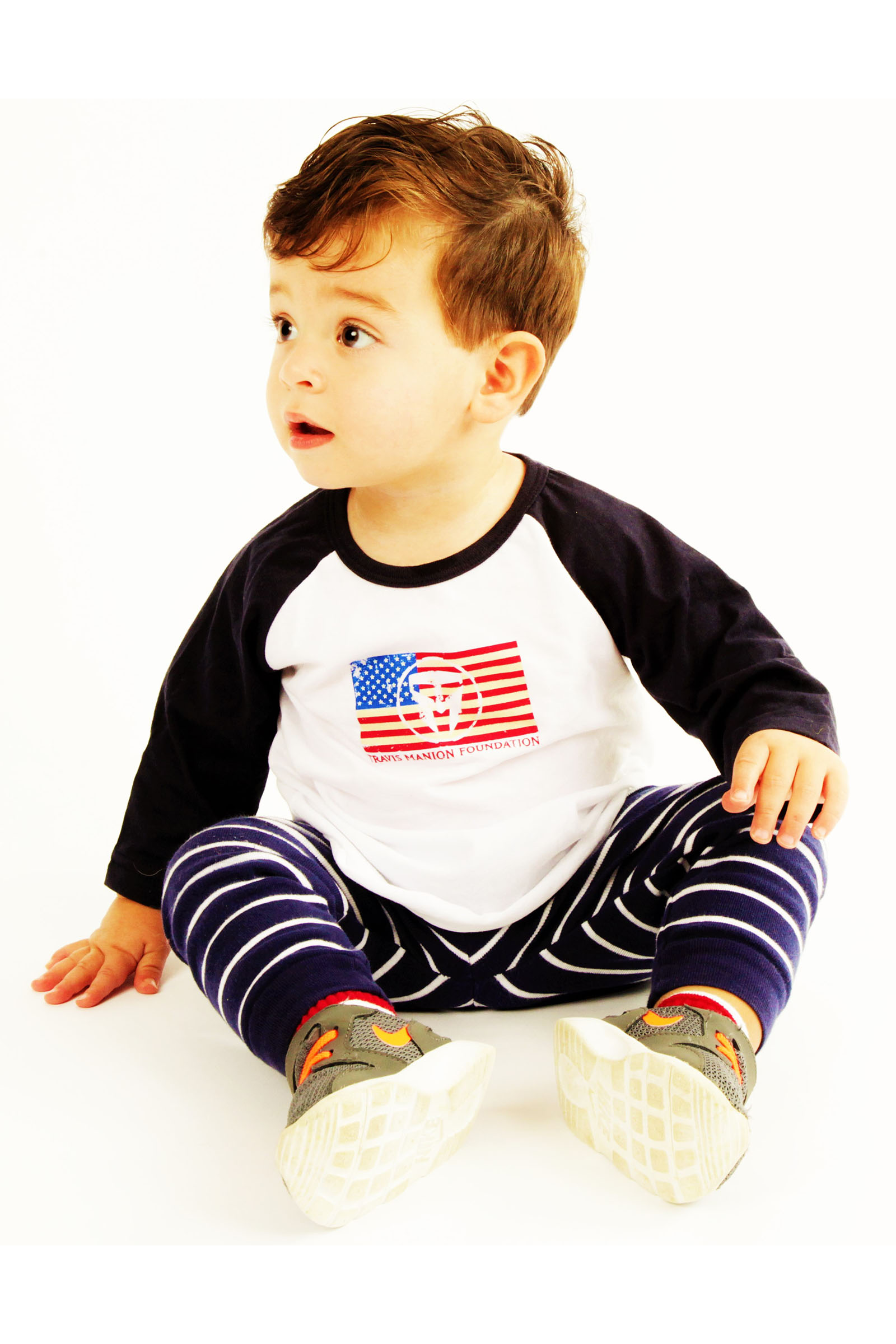 210aab9db Infant TMF Long Sleeve Flag Tee | Travis Manion Foundation EStore