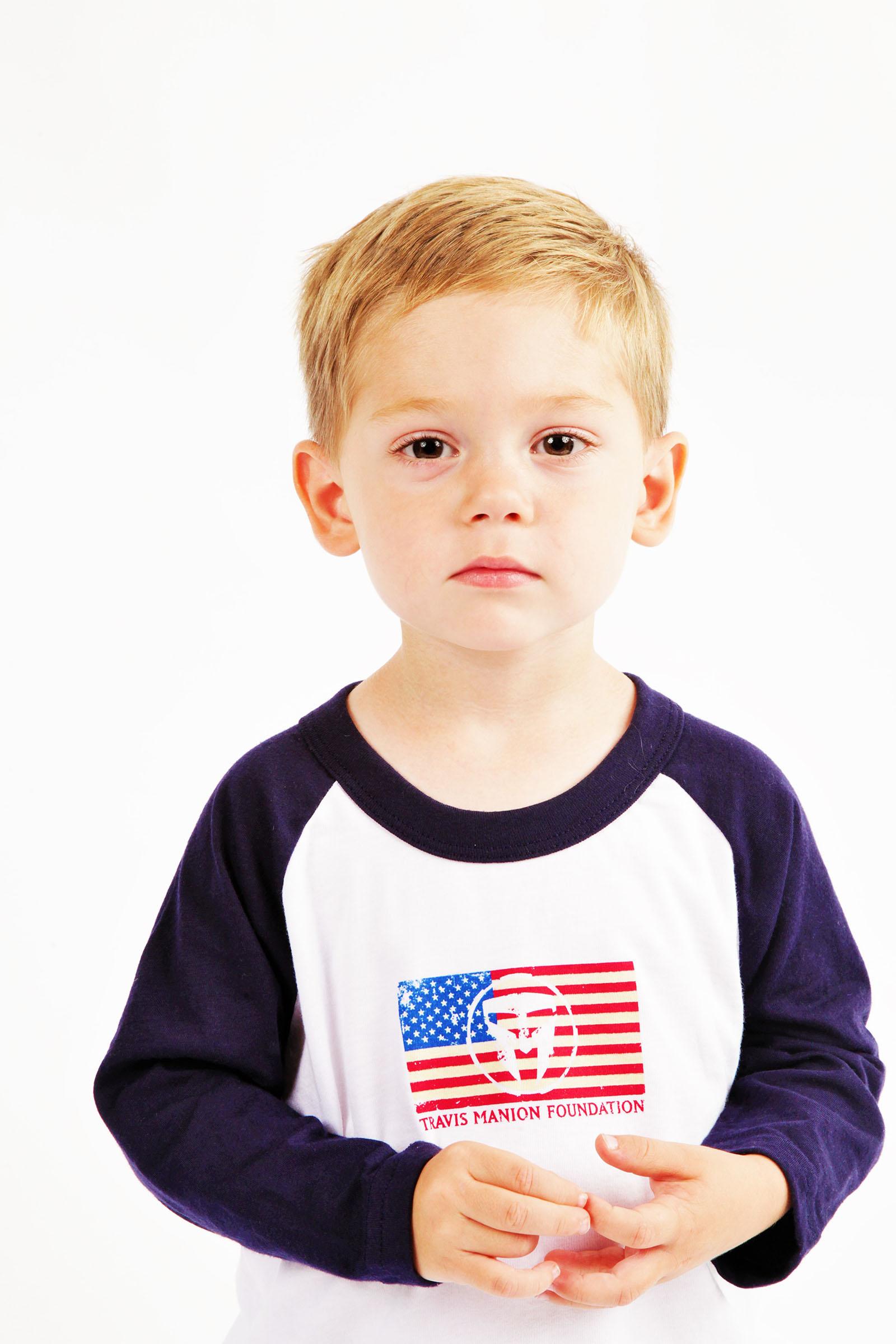 Unisex Kids TMF Long Sleeve Flag Tee