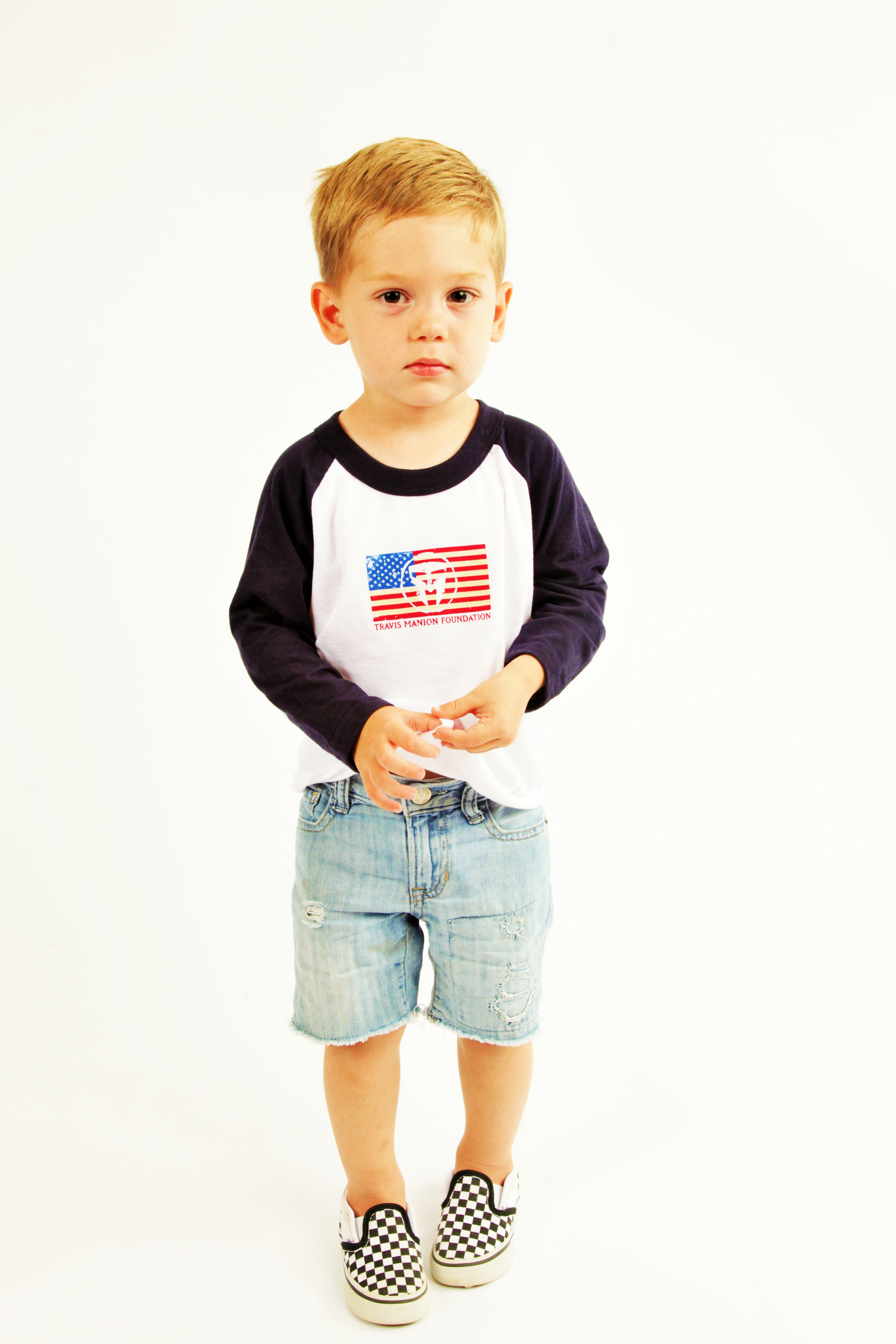 Unisex Kids TMF Long Sleeve Flag Tee