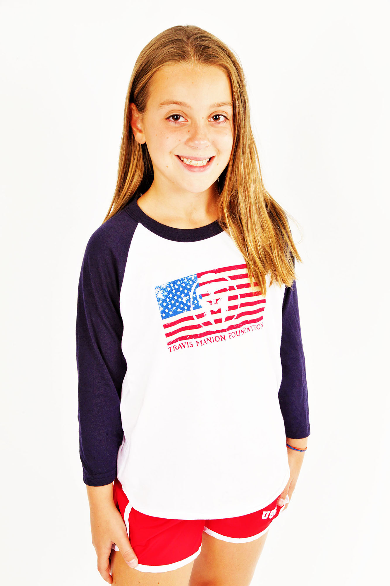 Unisex Youth TMF Long Sleeve Flag Tee