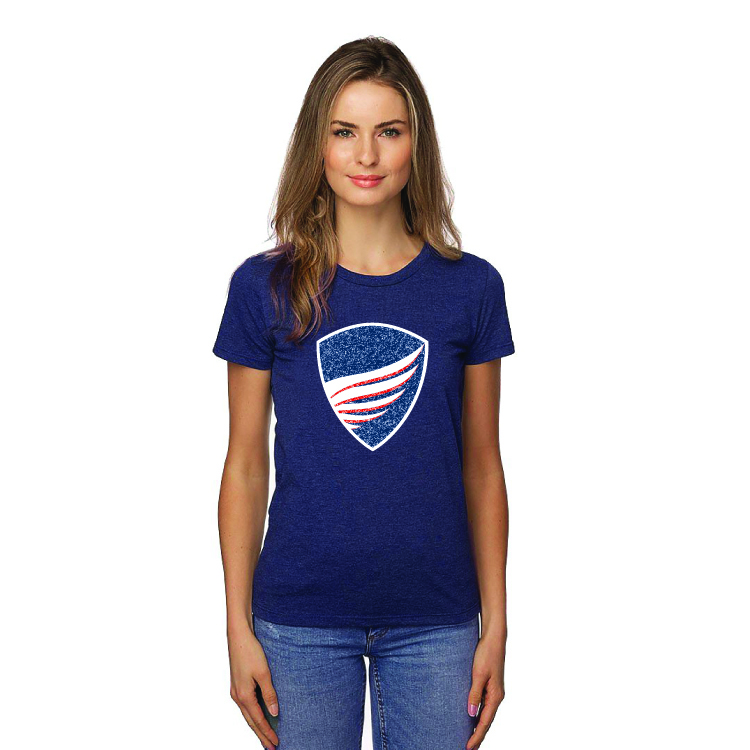 Women's Heather Blue Shield T-Shirt beau biden, beau biden foundation, beau biden shop, biden usa made shop, biden usa made shirt, biden shop, beau biden shirt, biden shirt, biden womens shirt, biden womens tee, biden be the shield
