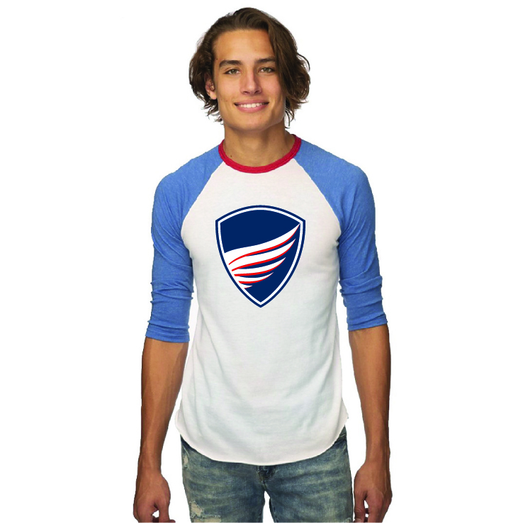 Unisex Shield Raglan Shirt - BBF115