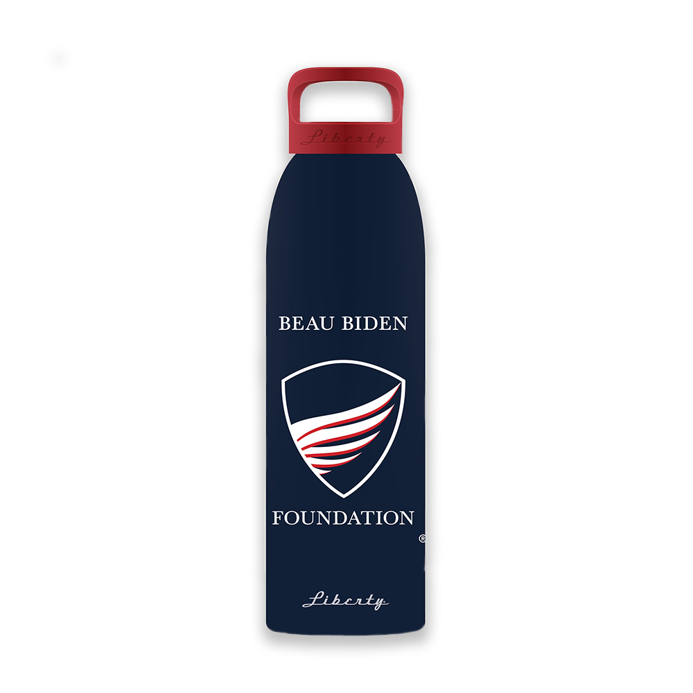 BBF Logo Water Bottle beau biden, beau biden foundation, beau biden shop, bbf water bottle, biden water bottle, biden be the shield