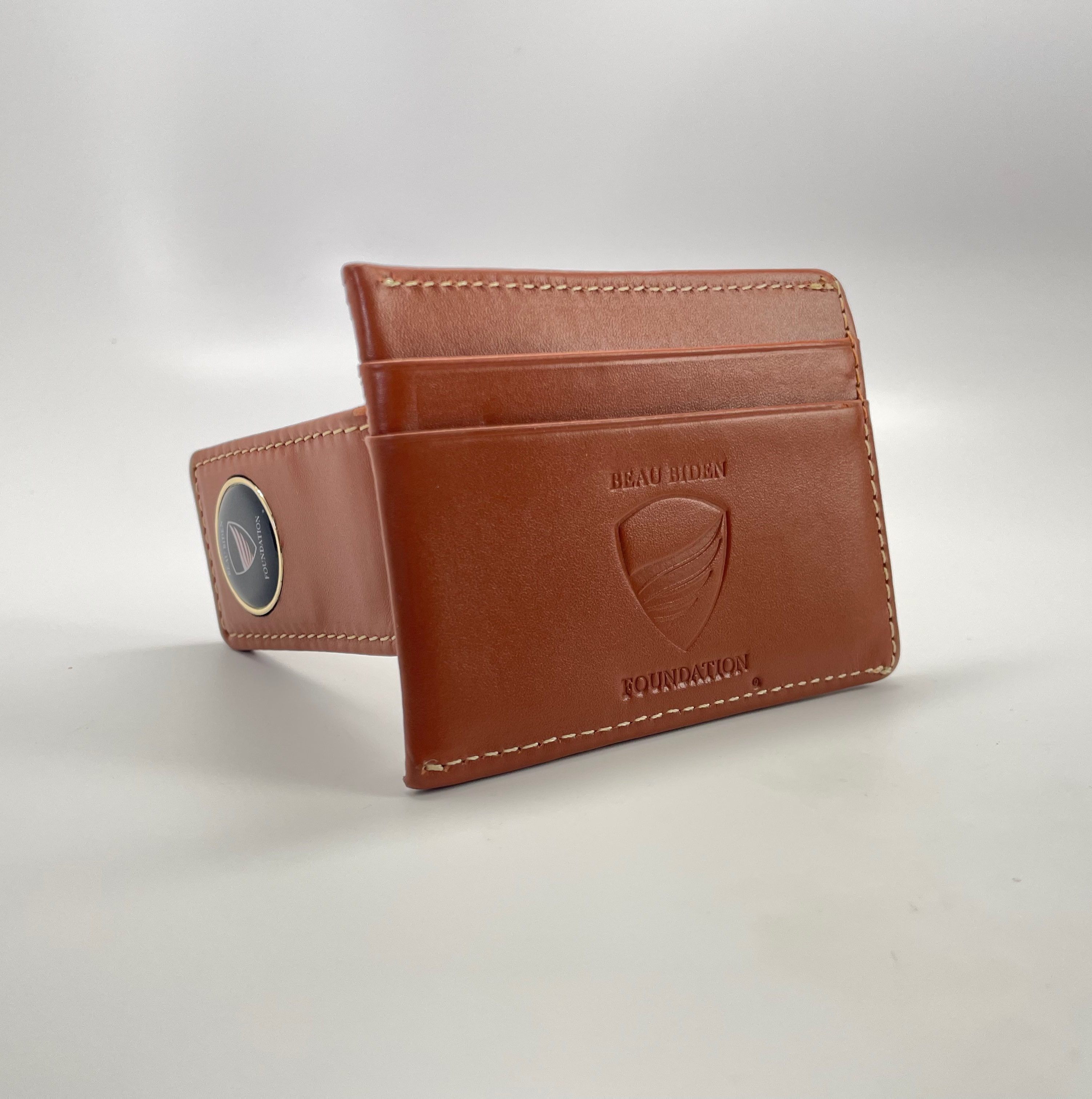 BBF Brown Leather Money Clip Wallet
