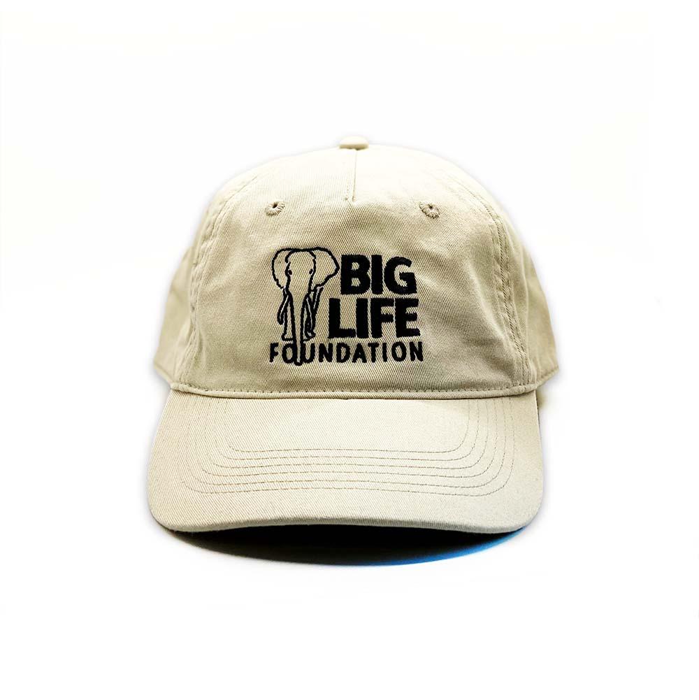 Big Life Classic Organic Cap - Oyster hat, baseball cap, elephant hat, african wildlife elephant hat