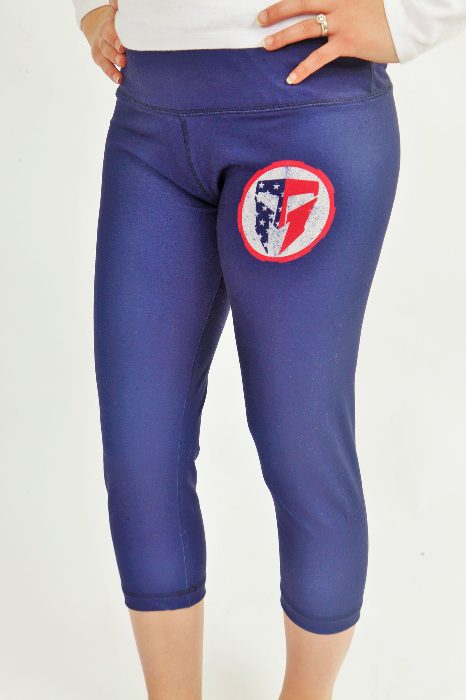 TMF Ladies Navy Blue Capri