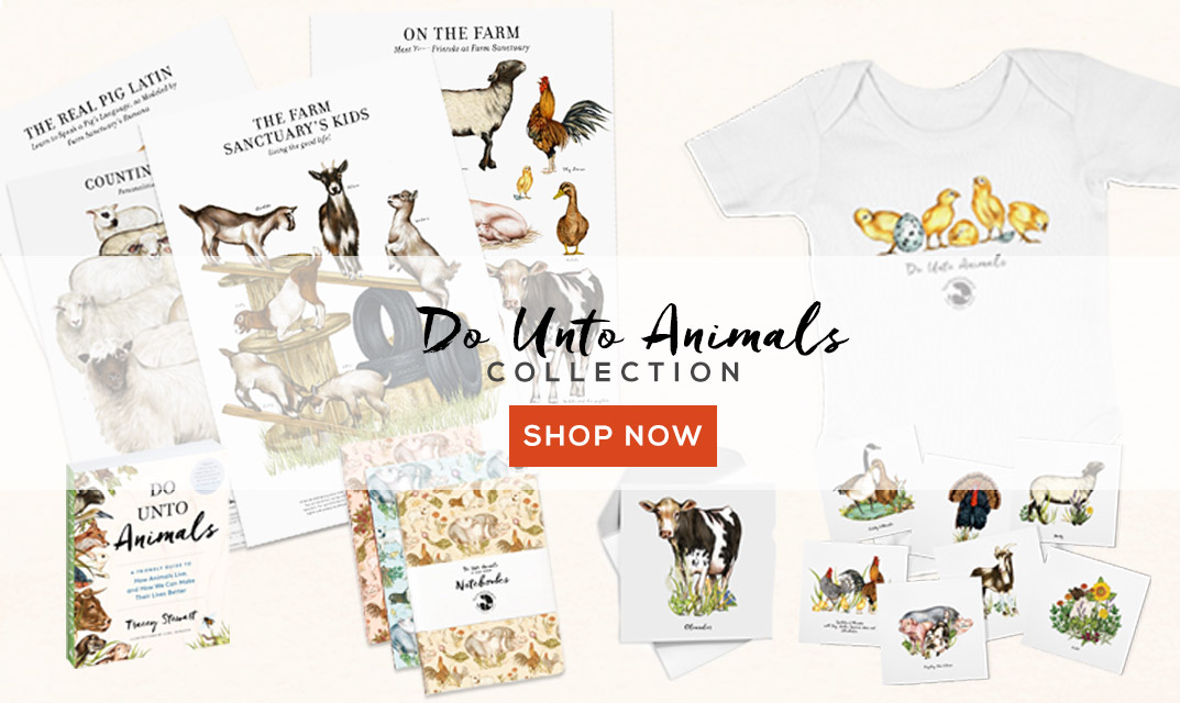 Shop Farm Sanctuary's Do Unto Animals Collection