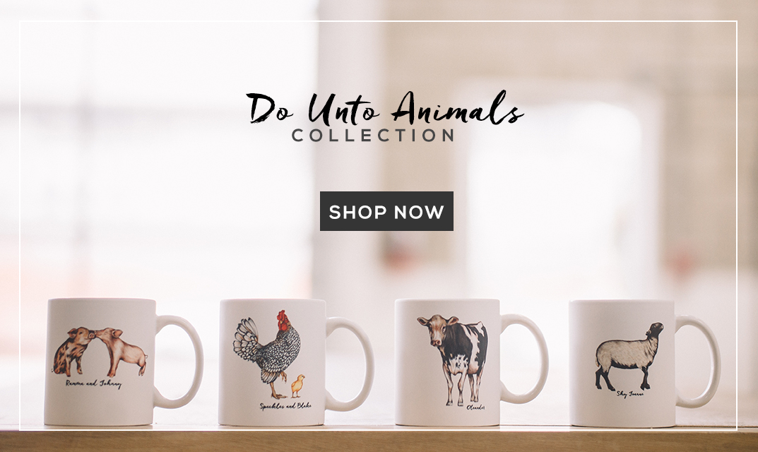 Shop Farm Sanctuary's Do Unto Animals Collection by Tracey Stewart and Lisel Ashlock