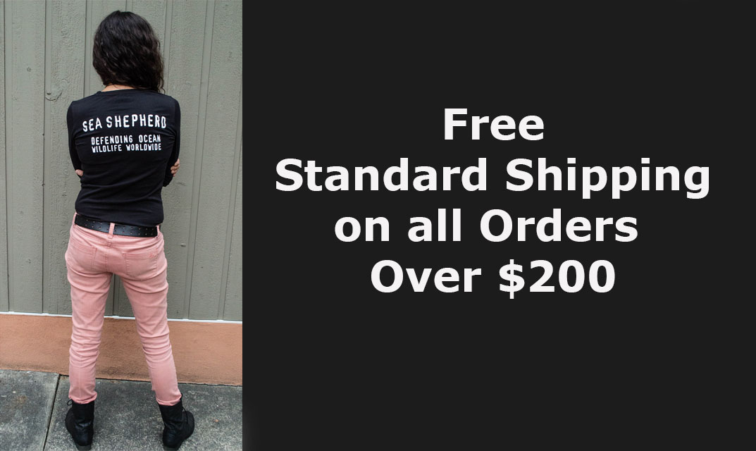 Free Standard Shipping on all orders over $200