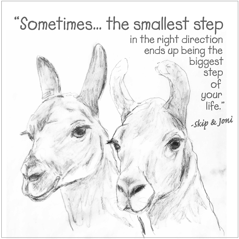 Jody Sims Compassionate Art Prints - B&W Skip & Joni