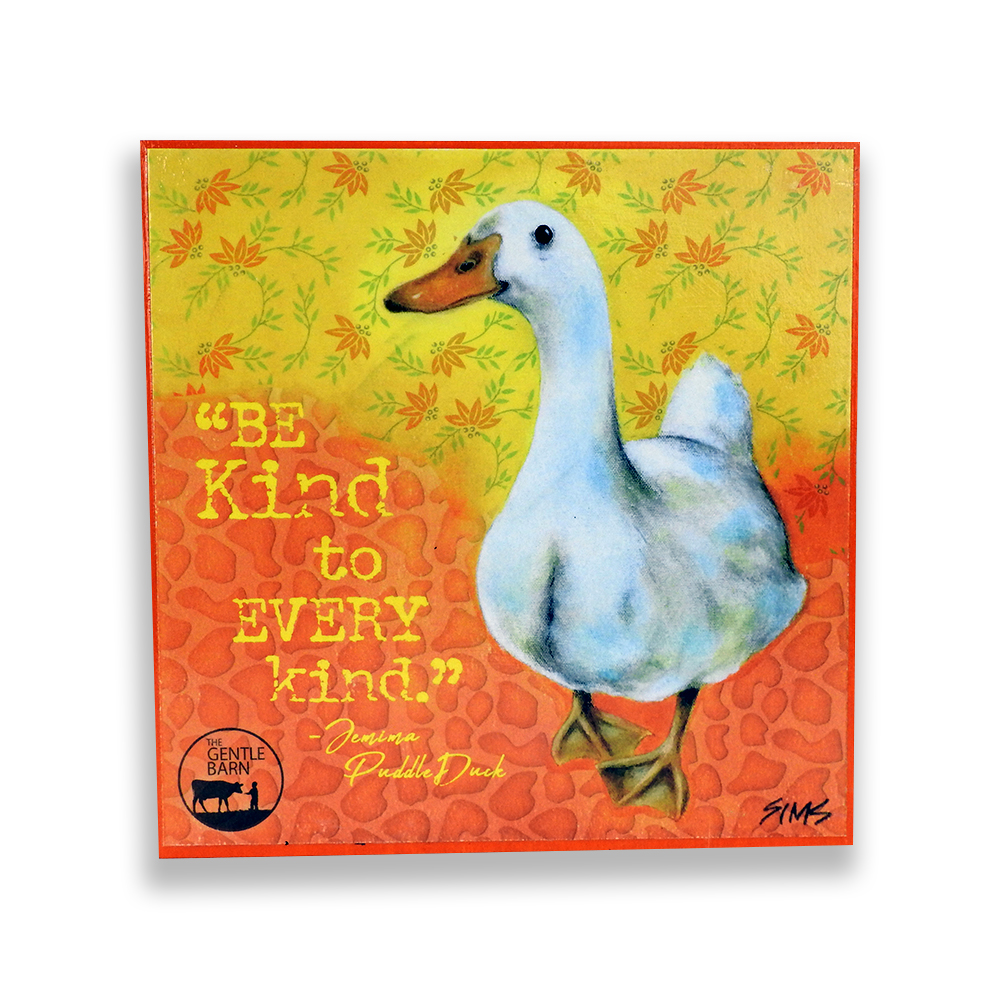The Gentle Barn Art of Jemima Puddle Duck by Jody Sims Compassionate Art Prints - Missouri