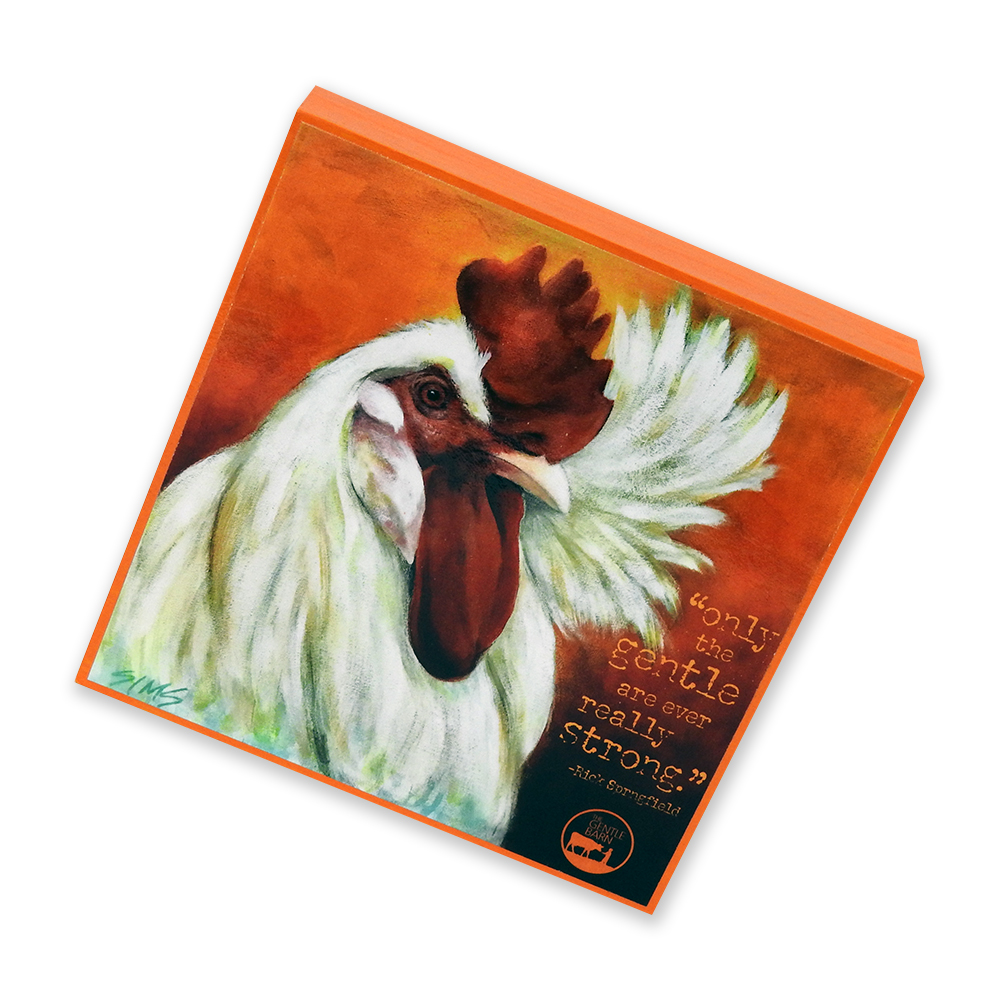 The Gentle Barn Art featuring Rick Rooster by Jody Sims Compassionate Art Prints - Tennessee