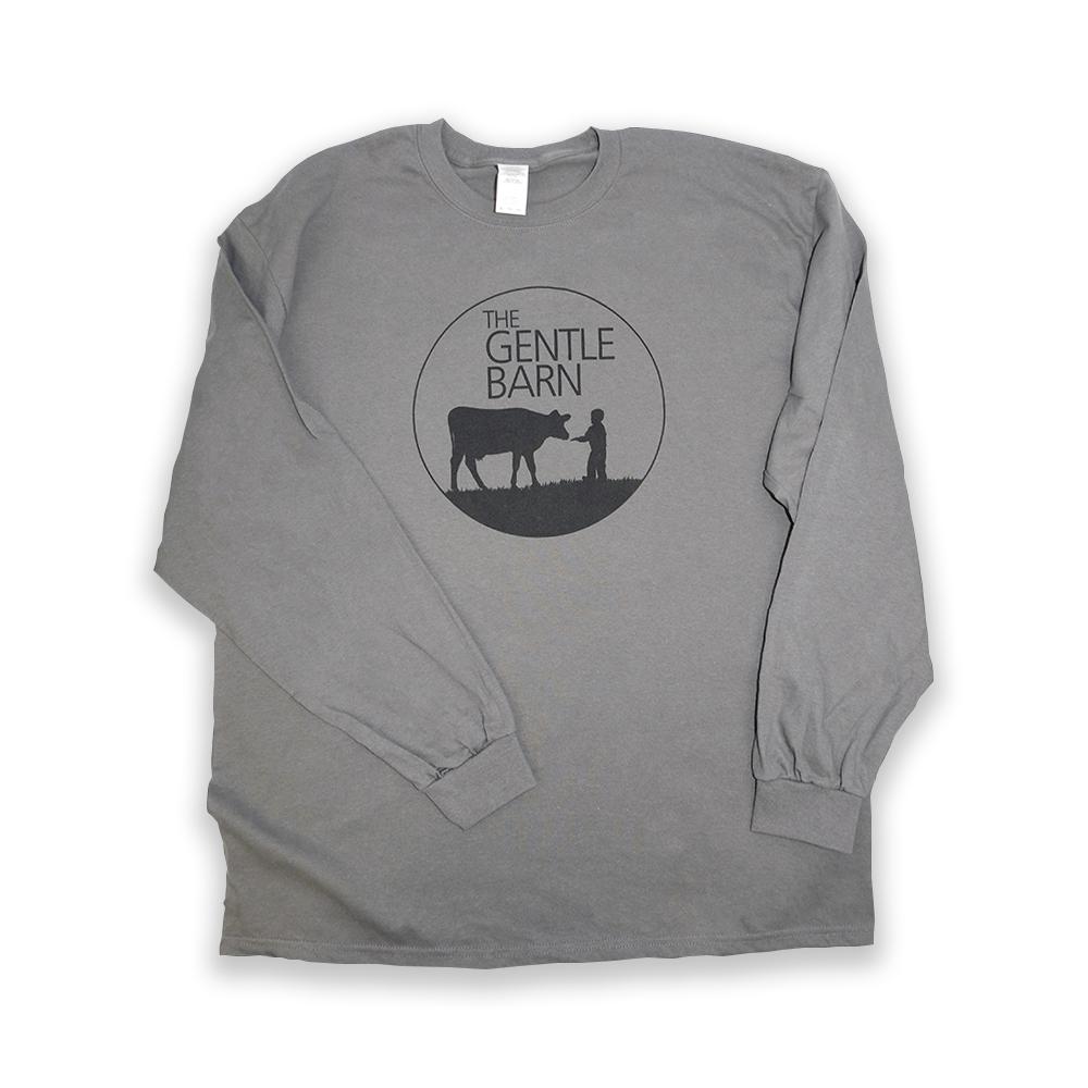 Long Sleeve Grey Shirt with Dark Gray Logo