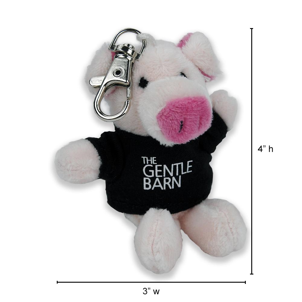 Gentle Barn Pig Keychain