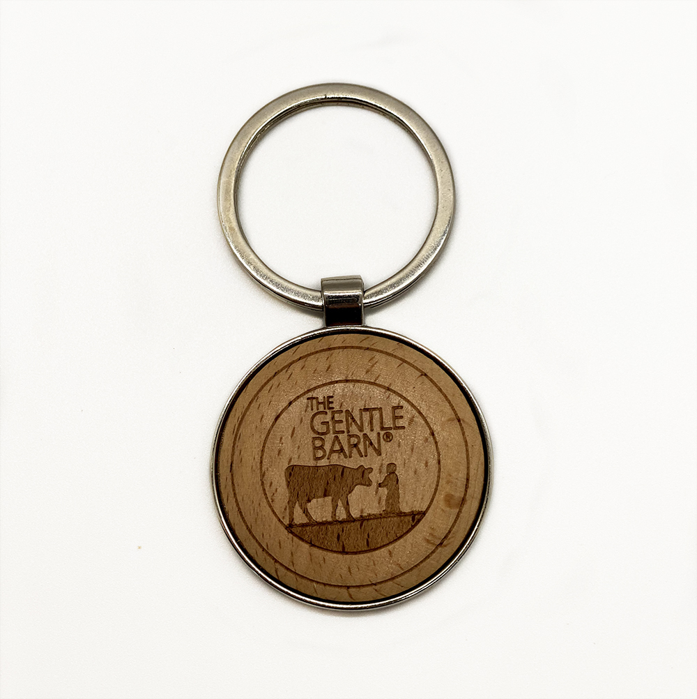 The Gentle Barn Logo Wood Keychain