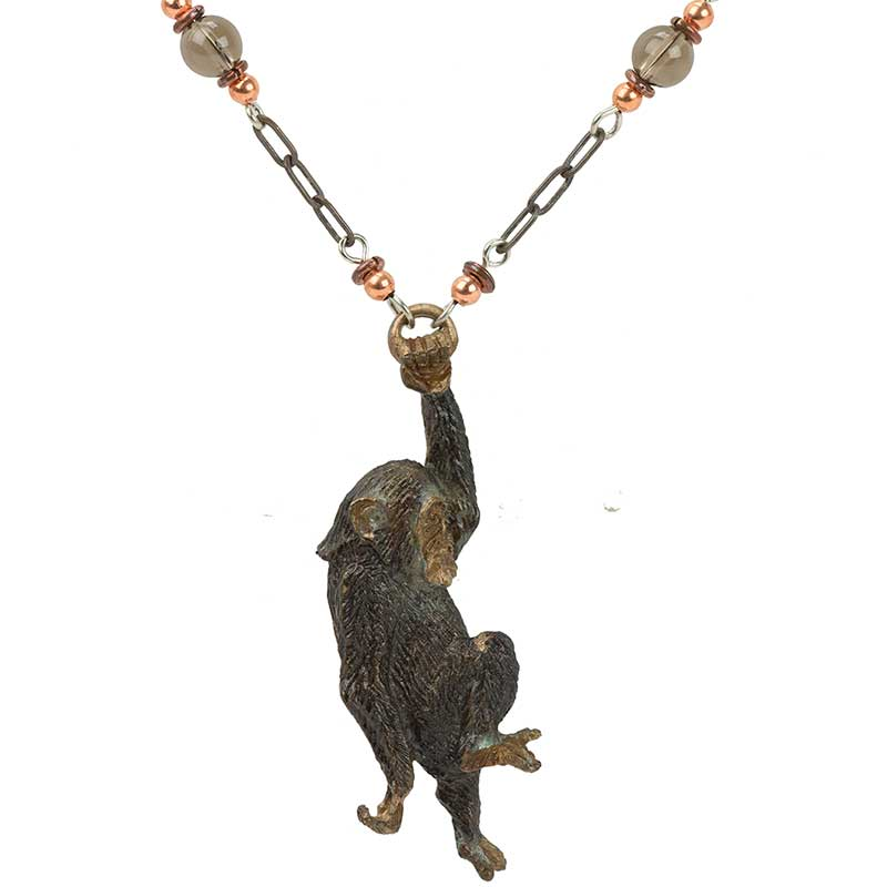 Swinging Chimp Necklace - JGI-01-6BN