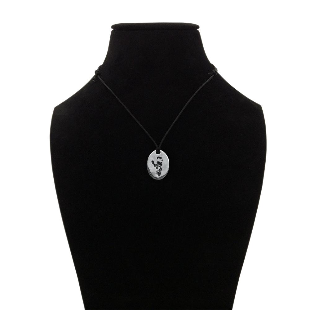 Jane Goodall Signature Wounda Footprint Pendant Necklace - JGI-WOUNDA