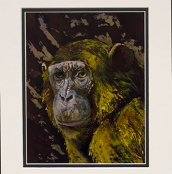 """""""Distant Cousin"""" Limited edition matted print by artist Beth Erland"""