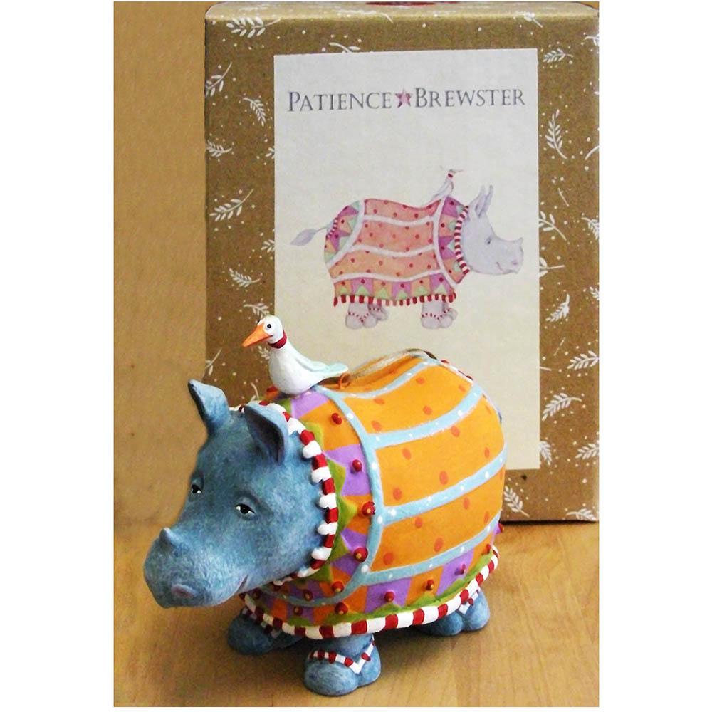 Ralph Rhino Ornament - JGI141