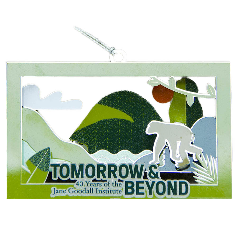 JGI Tomorrow & Beyond 40th Anniversary Metal Ornament