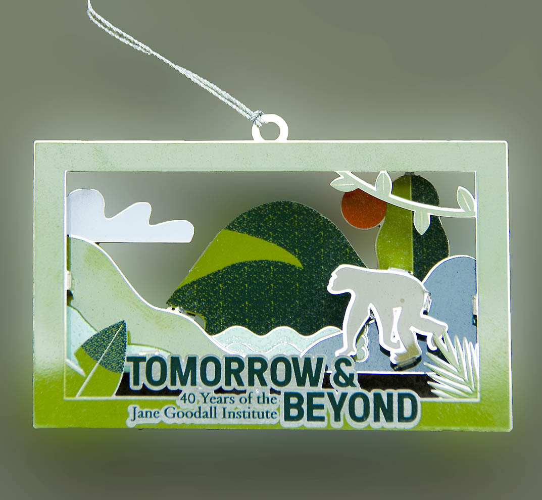 Tomorrow & Beyond 40th Anniversary Metal Ornament