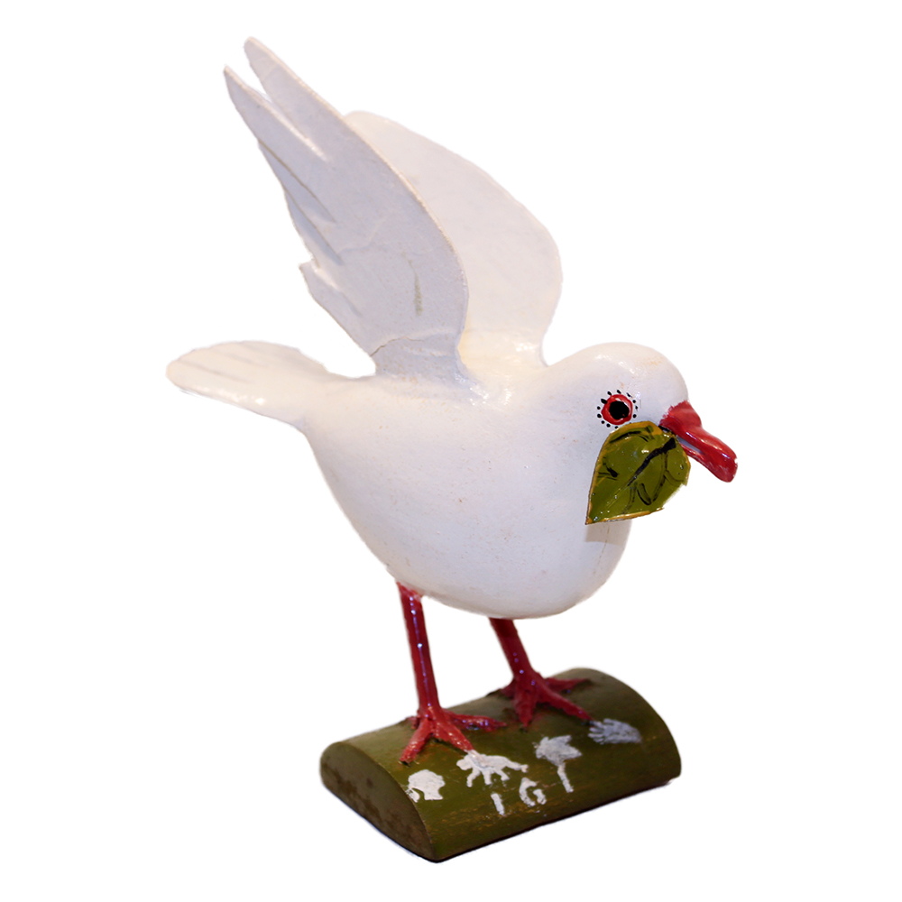 JGI Artisanal Hand-Carved Peace Dove by Congo Refugees