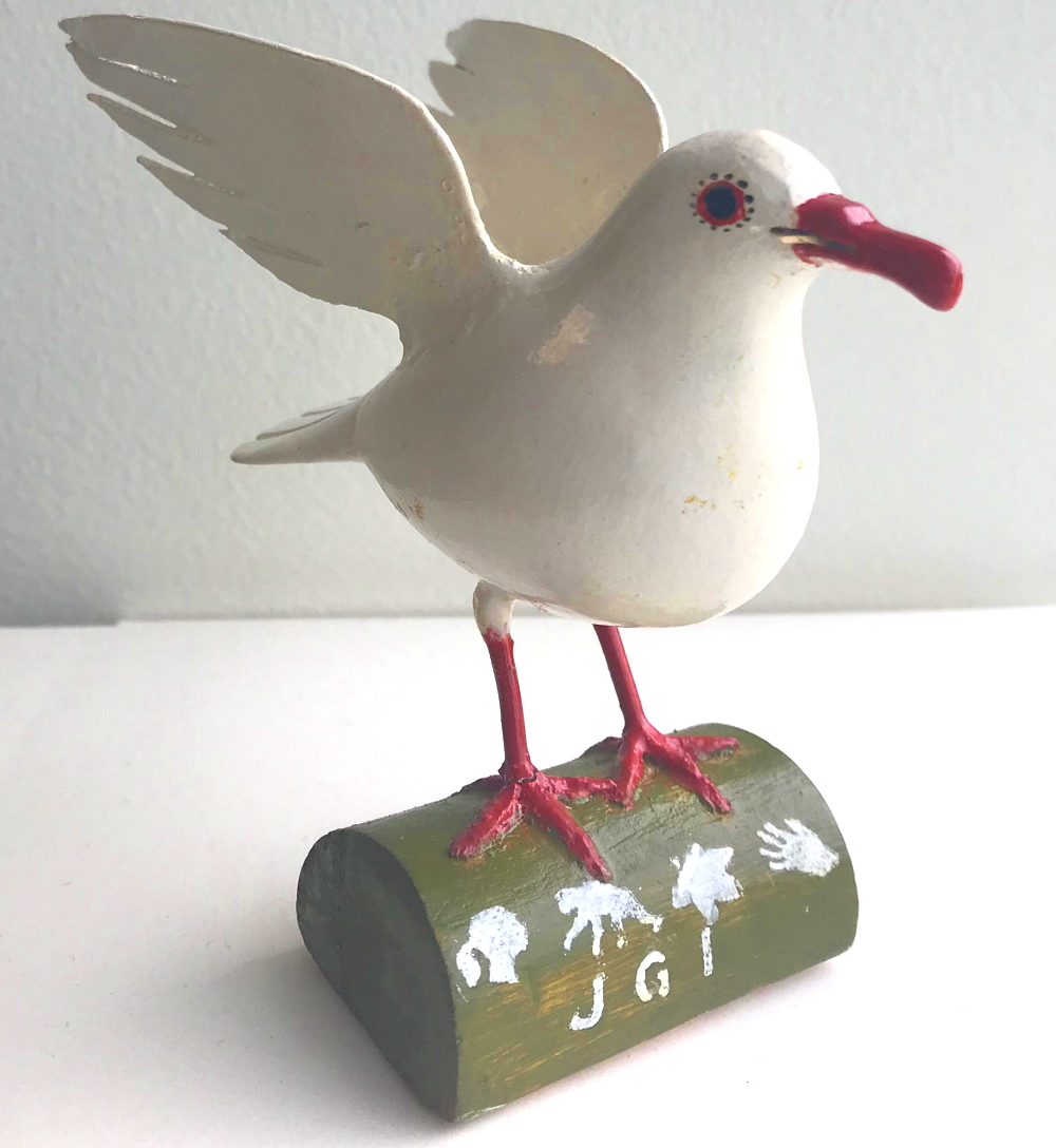 Artisanal Hand-Carved Peace Dove by Congo Refugee - JGI176