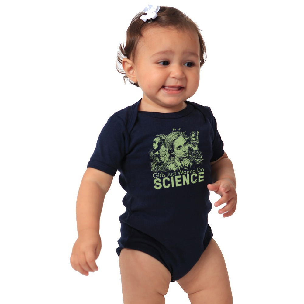 Infant Girls Just Wanna Do Science Onsie