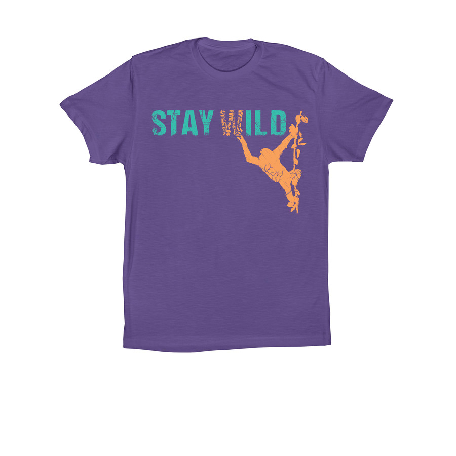 JGI Unisex Stay Wild T-Shirt - Purple