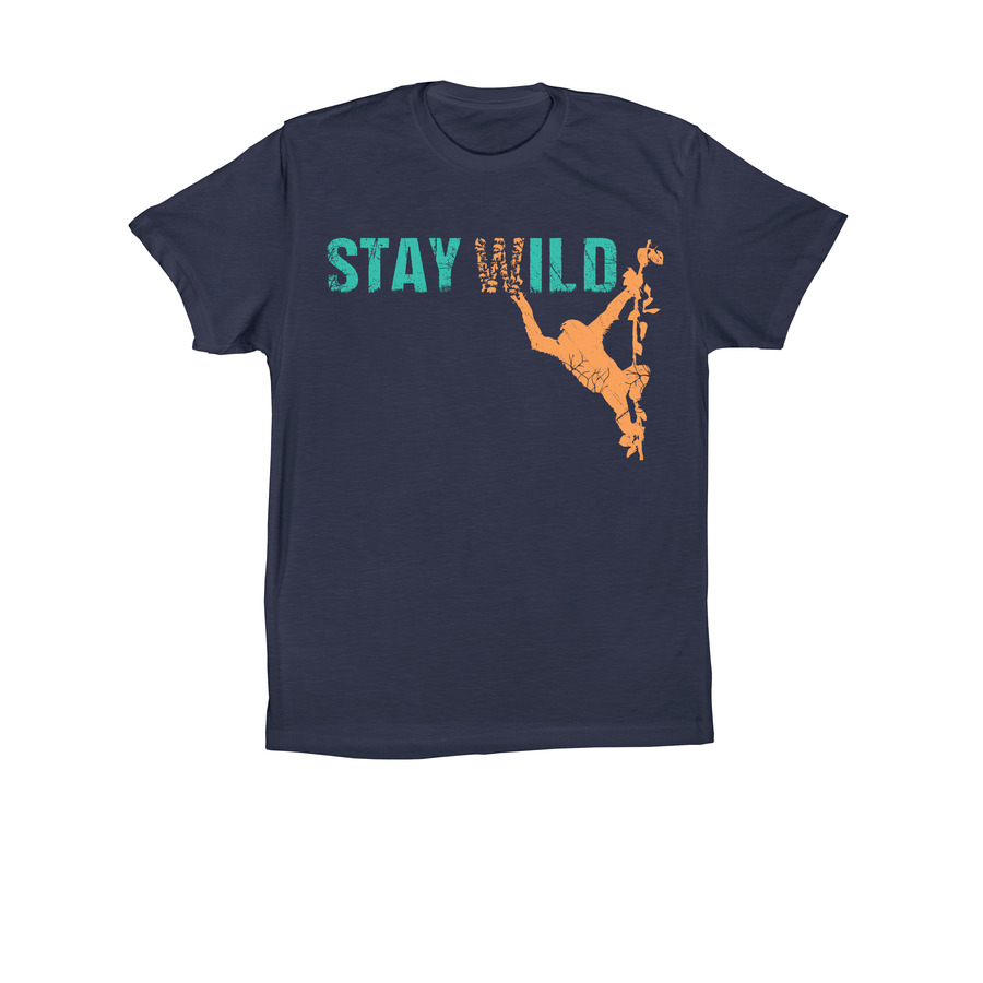 JGI Unisex Stay Wild T-Shirt - Navy