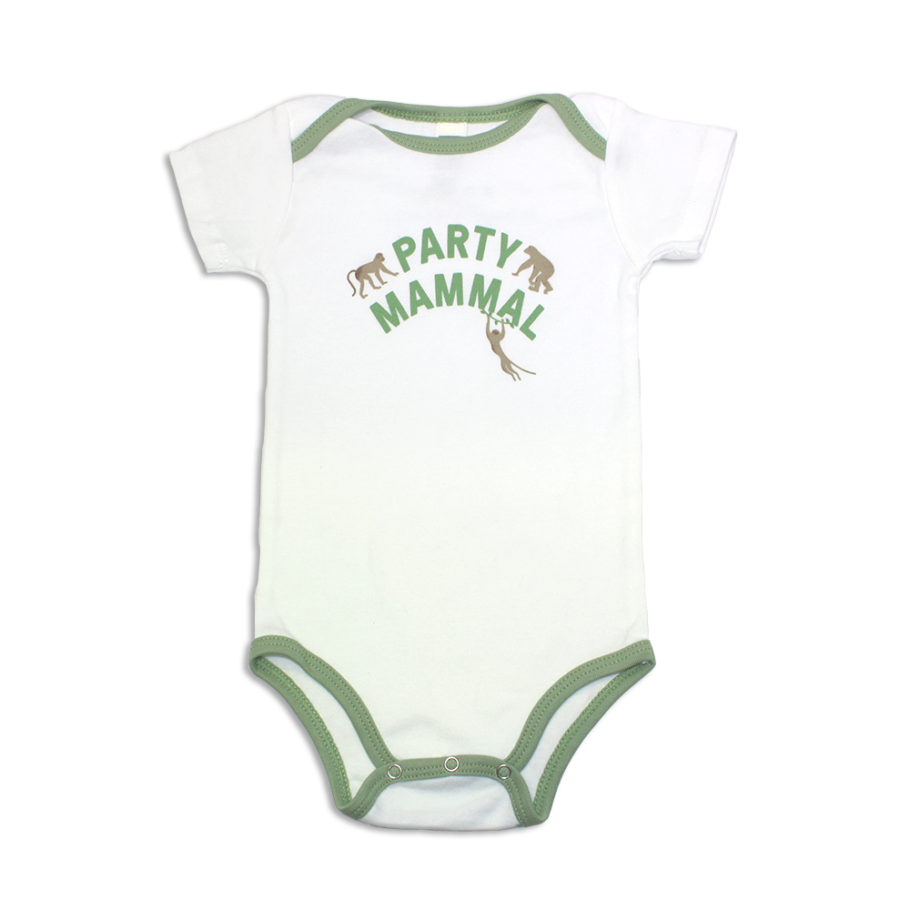 Jane Goodall Infant Party Mammal Onesie - Avocado