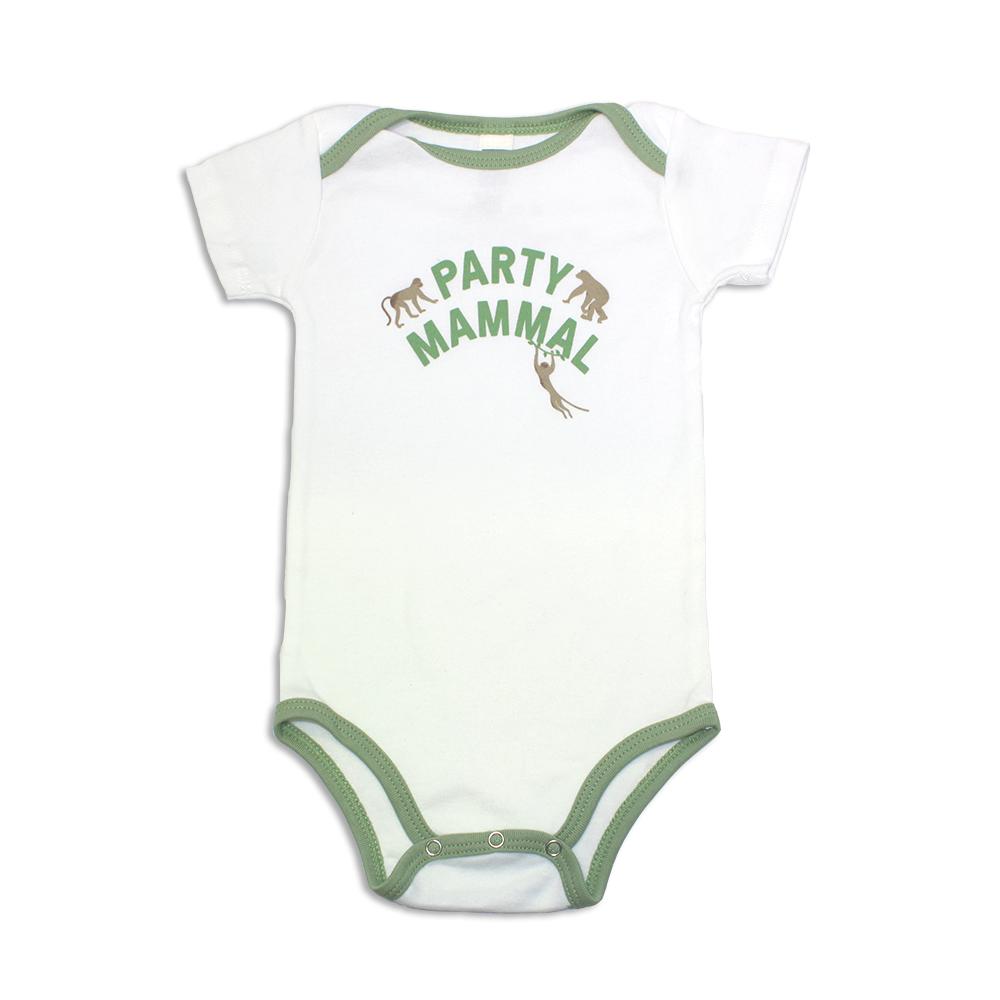 Jane Goodall Infant Party Mammal Onesie - Avocado